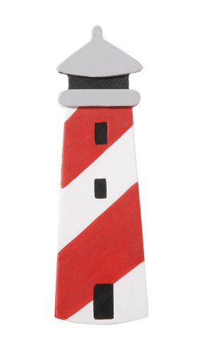 Darice 9199-04 Natural Painted Wood Cutout, Lighthouse