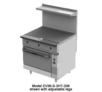 "Vulcan-Hart Ev36-S-3Ht-2083 36"" Electric Range With (3) Hot Top, 208/3V, Each"