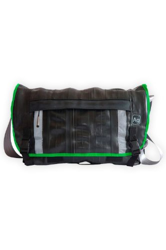 Alchemy Goods Recycled Bike Tube Pike Messenger Bag