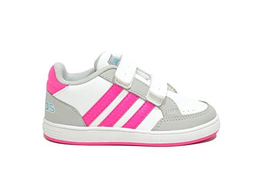 SCARPE Adidas Neo bambino HOOPS CMF sneakers bianco scarpe bambina AQ1662