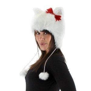 elope White Kitty Hoodie Hat - 1