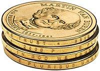 2008 Martin Van Buren Presidential $1 Coin - 8th President, 1837-1841