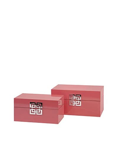 Set of 2 Danes Pink Boxes