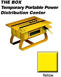 Leviton Pb101 50 Amp, 125/250 Volt, Portable Power Distribution Center, Yellow