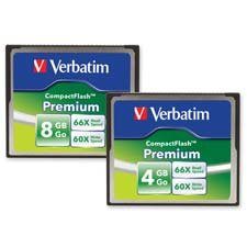 Verbatim Corporation Products - Compactflash Memory Card, 4GB, 66x Read/60x Write - Sold as 1 EA - CompactFlash Memory Card features higher data transfer speeds for faster next shot recovery, smoother video capture and playback, and faster photo image transfers to your PC, printer, or photo kiosk. Offers a 66X minimum read speed (10MB per second) and a 60X minimum write speed (9MB per second). Memory card is designed for use with digital cameras, digital voice recorders, MP3 audio and video came
