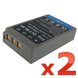 WOWparts 2pcs BLS-5 BLS5 Replacemnet Battery for Olympus PEN E-PL2 EPL2 (7.4V 1250mah)
