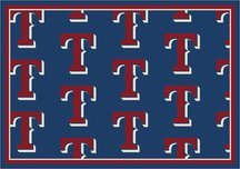 Milliken Texas Rangers 5 x 8 Texas Rangers Repeat Area Rug