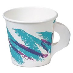 """""""Ssp Paper Hot Cups, With Handle, 4Oz, Jazz Design, 50/Pack, 20 Packs/Carton"""""""
