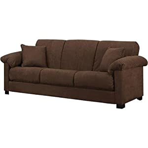 Montero Microfiber Convert A Couch Sofa Bed Dark Brown Kitchen Dining