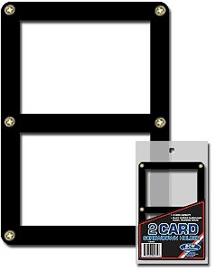 BCW Double Card Screwdown Holder - Black Border - Baseball, Football, Basketball, Hockey, Nascar, Sportscards, Gaming & Trading Cards Collecting Supplies