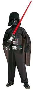 Original Lizenz Darth Vader Star Wars Starwars Kostüm Set PVC Maske Gr 116 - 158, Größe:M