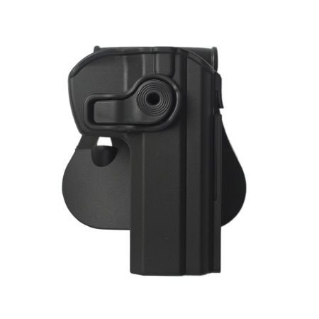 Cz 75 Gun Holster With Detachable Mag Pouch Polymer Roto Holster Black And A Genuine Igws'S Firing Range Earplugs Kit.