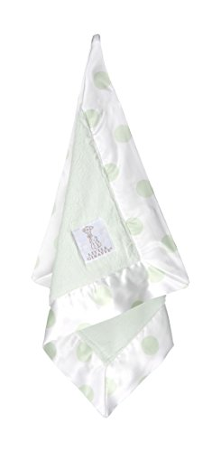 Little Giraffe Luxe New Dot Blanky, Celadon