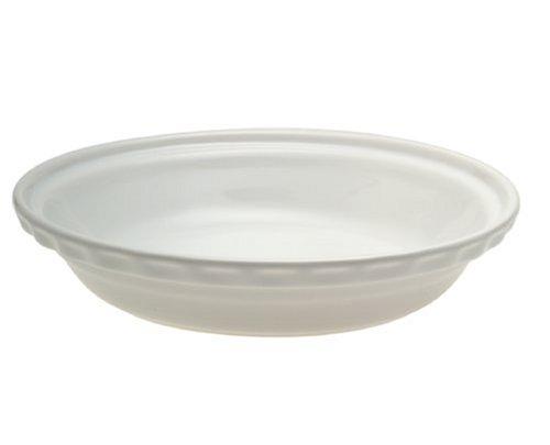 Chantal 9.5-inch Deep Pie Dish, White