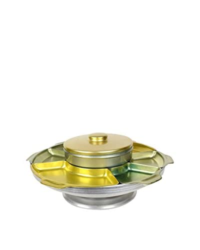 Uptown Down Previously Owned Anodized Aluminum Lazy Susan Appetizer Set