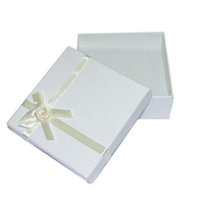 Ivory Lift off Lid Card Gift Box 9x9x3cm (XB0787)