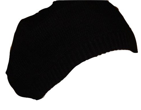 john-lewis-women-plain-knit-black-beret-with-angora