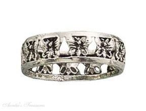 Sterling Silver Cut Out Butterfly Ring Size 8