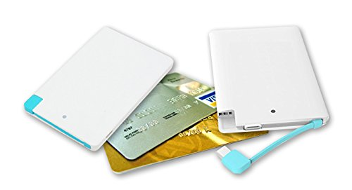 MAXXLITE 3000mAh Credit Card Power Bank with iPhone 5/5s/6/6s Charging Adapter