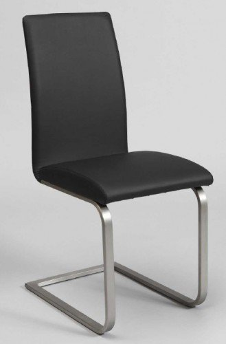 niedriger preis designesszimmerstuhlfreischwingermitedelstahlgestell stuhllederoptik finebuy at. Black Bedroom Furniture Sets. Home Design Ideas