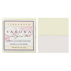 Terra Nova Sakura & Green Tea Oatmeal & Glycerin Soap Duo