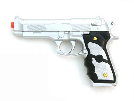 Silver Airsoft Spring Pistol M757S 1/1 Full Scale 200 fps