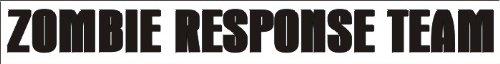 ZOMBIE RESPONSE TEAM decal sticker zrt outbreak car, White