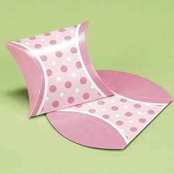 Pink Mini Favor Pillow Boxes (6 dozen) - Bulk