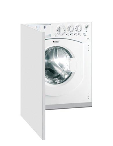 Hotpoint AWM 1081 EU Intégré 7kg 1000tr/min A+ Blanc Front-load - machines à laver (Intégré, Front-load, A+, C, Blanc, Gauche)