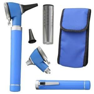 Otoscope Poche Fibre Optique Mini en Bleu