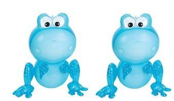"Two (2) BLUE 24"" Inflatable Frogs Aquatic - BOY BIRTHDAY PARTY DECORATION - Favor - Decor - Gift - Prize - Giveaway- INFLATES Valentine"