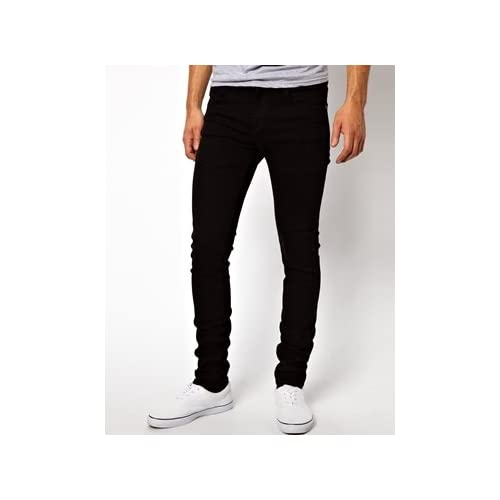 Dr Denim Snap Skinny Jeans in Black 並行輸入品