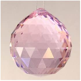 40mm Pink Crystal Ball Prisms #1701-40