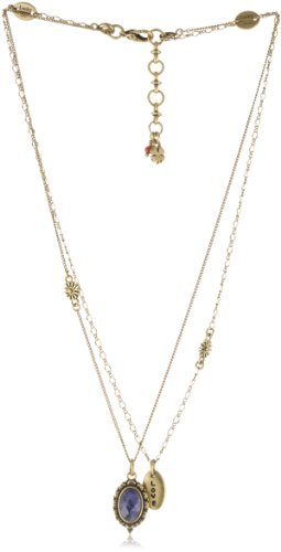 "Lucky Brand ""West Coast BFF Necks"" Gold-Tone Love Pendant Necklace"