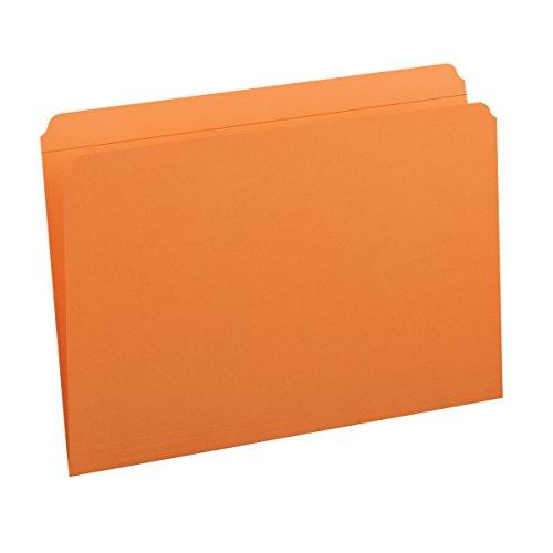 Smead Colored Folders Straight Cut Tab Legal Orange