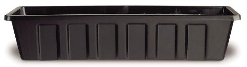 Novelty 02248 Polypro Plastic Flower Box Planter, Black, 24-Inch Length (Plastic Flower Box compare prices)