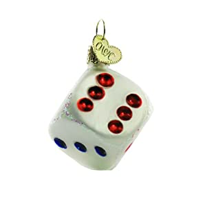 Old World Christmas Dice Ornament