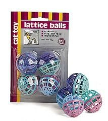 Ethical Cat Lattice Balls 4 Pack – 2914BL