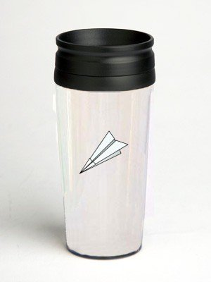 16 oz. Double Wall Insulated Tumbler with toy paper plane - Paper Insert
