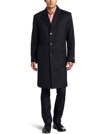 Michael Kors Men's Madison Top Coat, Black, 44 Regular