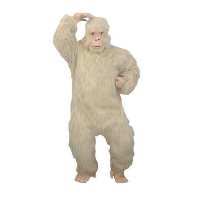 Gold Gorilla Mens Ape Halloween Costume