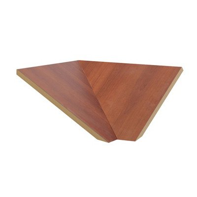 "Corner Sloping Hood Filler Size: 7.75"" H X 21"" W X 22"" D, Color: Cherry front-641354"