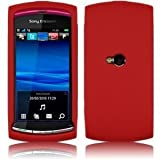 Red Hybrid Case Cover For Sony Ericsson Vivaz