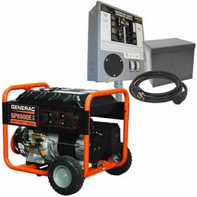 Generac EGD-5941KIT 6500 Watt, 120/240V Electric Start Portable Generator with Power Transfer Kit, Gasoline Generac B00MBK8XBU