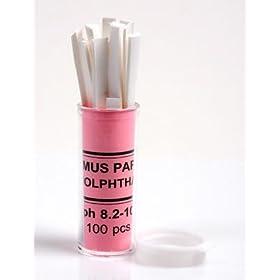 Phenolphthalein pH Test Paper Indicator 100 Strips: Amazon.com