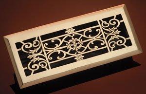 """4"""" x 10"""" Decorative Floor Register Finish: Antique Black"""