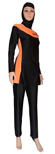 YEESAM-Hot-Orange-Modest-Ladys-Full-Cover-Beachwear-Islamic-Swimsuit-Burkini
