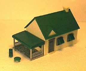 HO Scale House with porch for train layouts