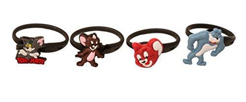 4 pezzi Tom and Jerry Releasable Ponytail Staccabile Gomma Elastica Non Scivolare Capelli