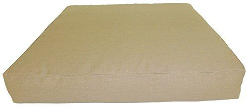 Gartenmöbel Rattan Premium Sitzkissen 50 x 50 cm in der Farbe sand Loungekissen günstig online kaufen